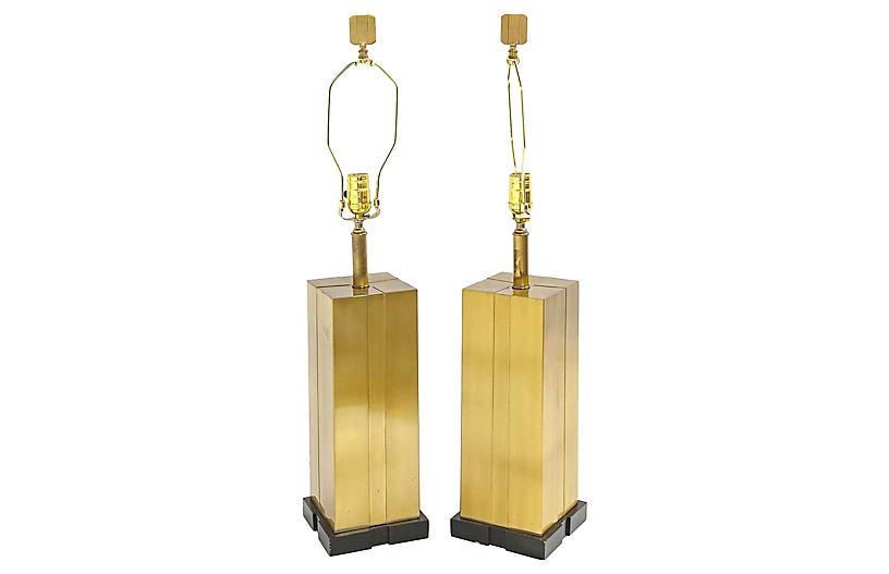 Modern Brass Lamps Att. to C. Jere