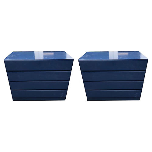 1960s Lacuqered Modern Chests,Pair