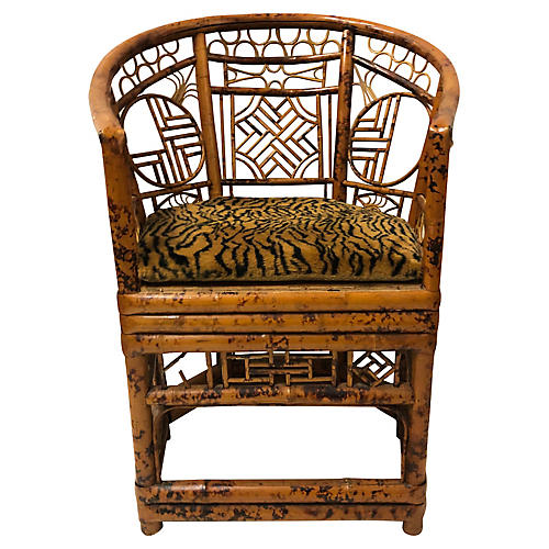 Chippendale Style Bamboo Chair