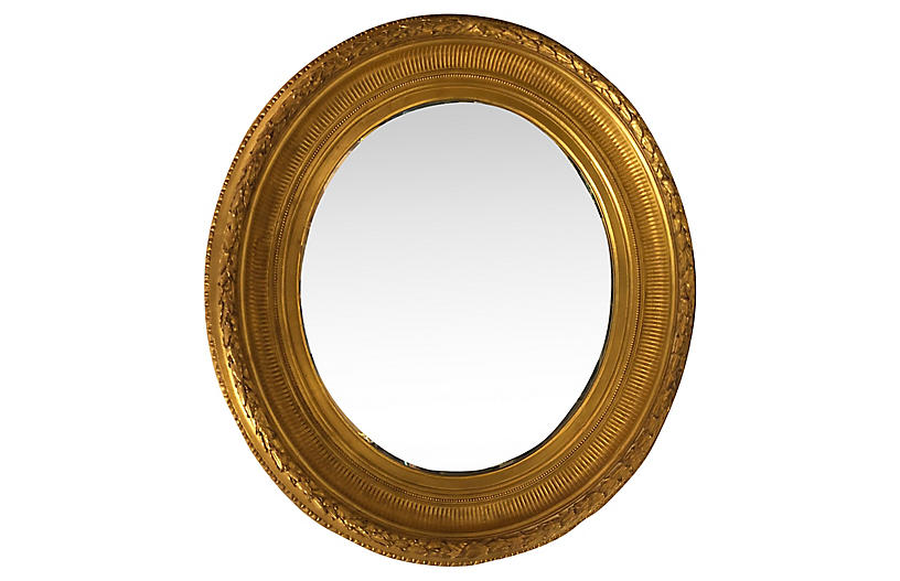 French-Style Gilded Mirror