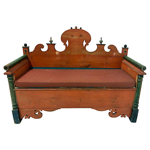Antique Swedish Bench / Settle