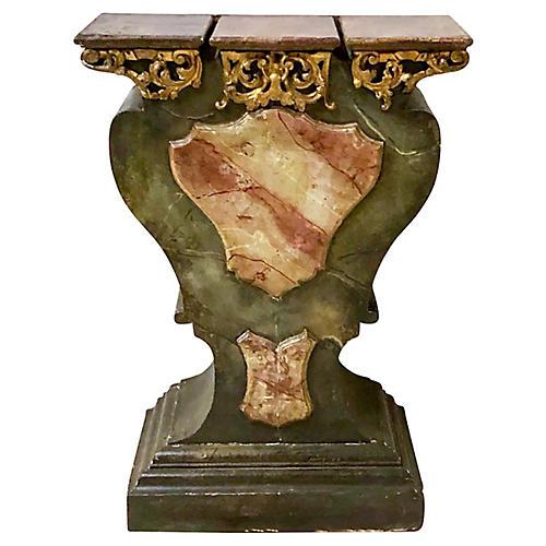 19th-C. Giltwood Italian Console Table