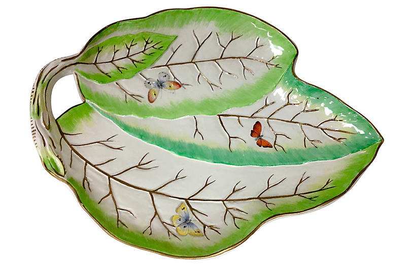 Mottahedeh Tobacco Leaf Plate