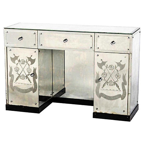 Hollywood Regency Mirrored Console /Desk