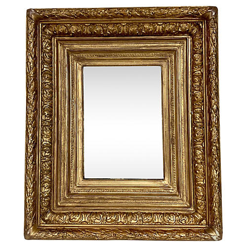 19th-C. Carved French Giltwood Mirror