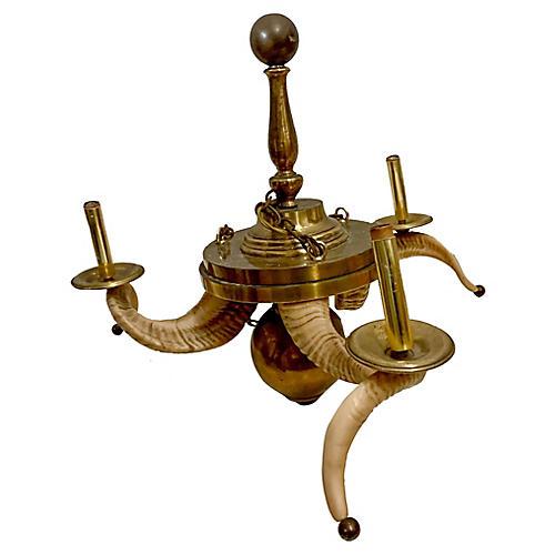 Chapman Ram's Horn Chandelier