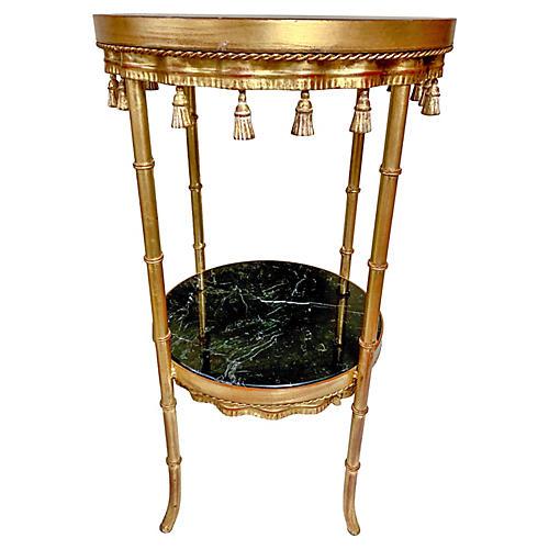 Hollywood Regency Gilt Tassel Table