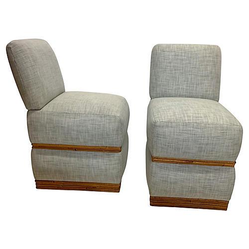 Pencil Bamboo Chairs attr. Billy Baldwin