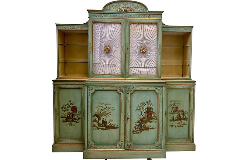 Chinoiserie Cabinet with Sunburst Doors