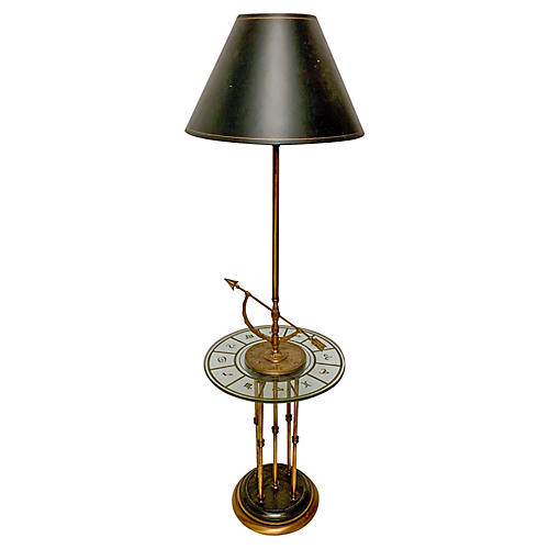 Regency Style Bronze Zodiac Floor Lamp