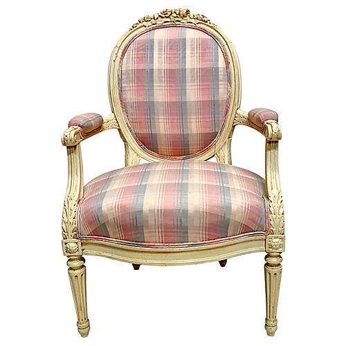 1940s Carved French Style Chair