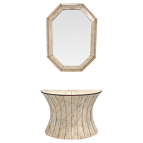 Maitland-Smith Console Table & Mirror