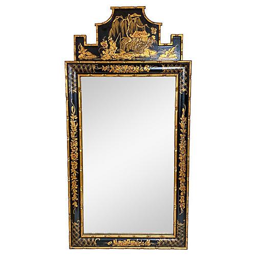 Italian Chinoiserie Faux Bamboo Mirror