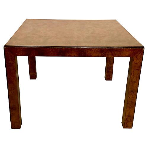 Burlwood Table by J. Widdicomb