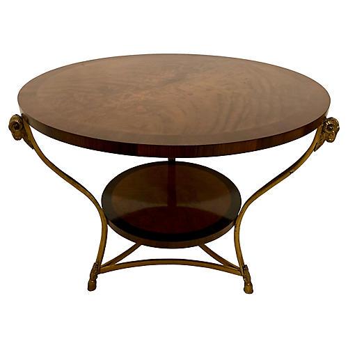 Flame Mahogany Table att. Maitland-Smith