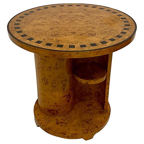 Italian Art Deco Style Burlwood Table