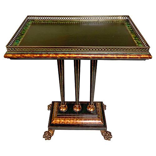 Faux Tortoise Regency Style Table