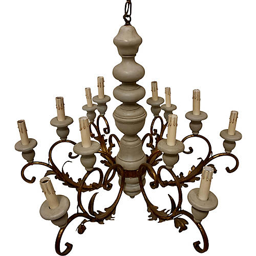 French Style 12 Light Chandelier