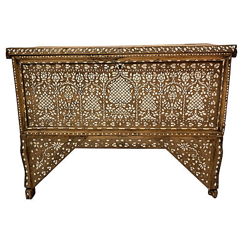 Antique Inlaid Anglo Indian Chest