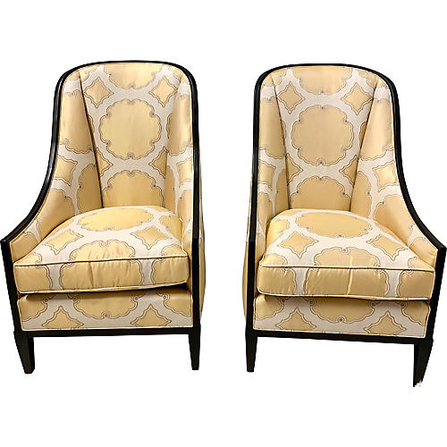 Kravet Haddam Chairs, Pair
