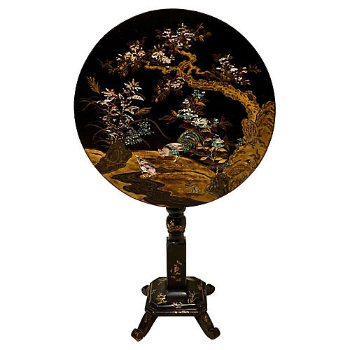 19th-C. French Chinoiserie Table