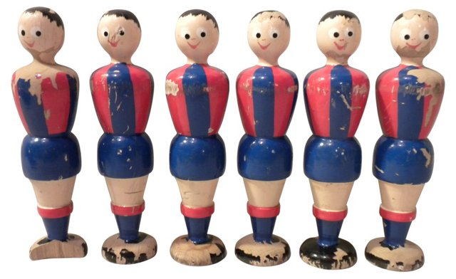 Figural Child's Bowling Pins, S/6