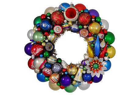 Red Purple Green Gold Holiday Wreath