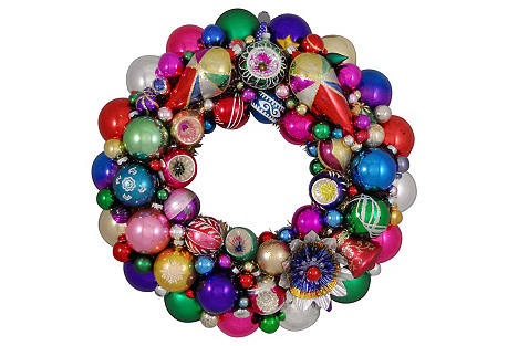 Colorful Holiday Wreath