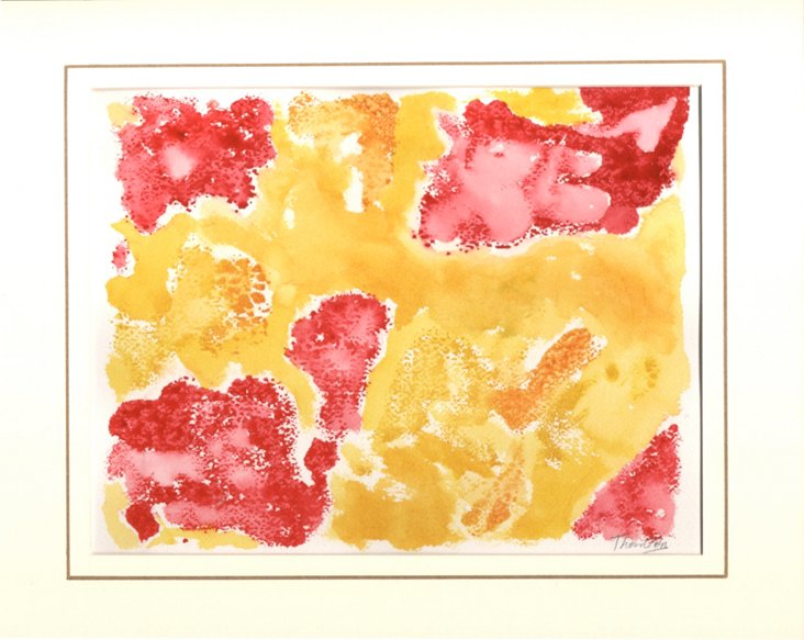 Red & Gold Monotype