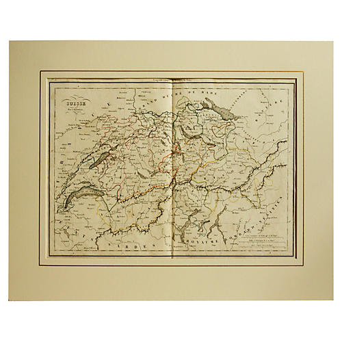 Swiss Map, 1828