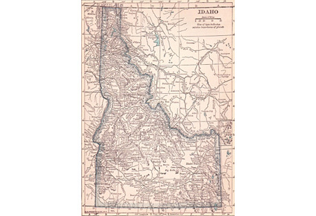 Map of Idaho, 1919