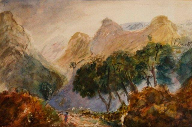 Scottish Mountain w/ Trees, 1908
