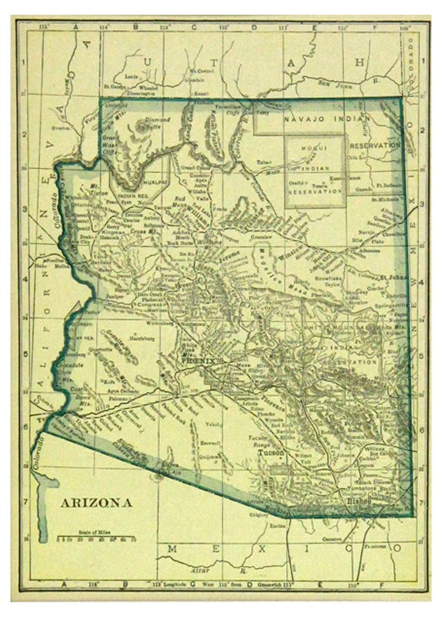 Arizona Map, 1919