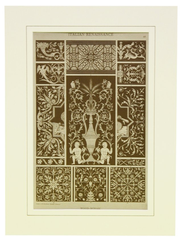 Renaissance Mosaic Print, C. 1880