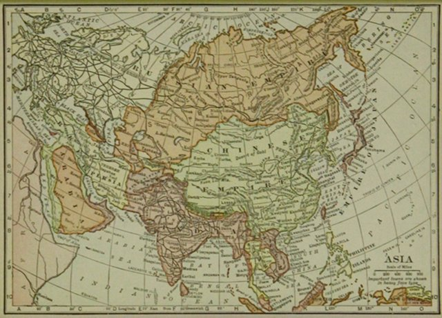 Asia Map, 1919