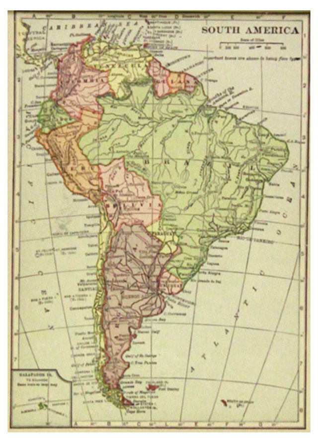 South America Map, 1919