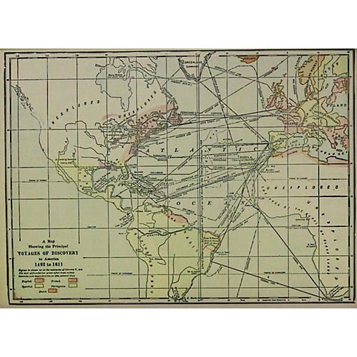 Voyages of Discovery Map, 1919
