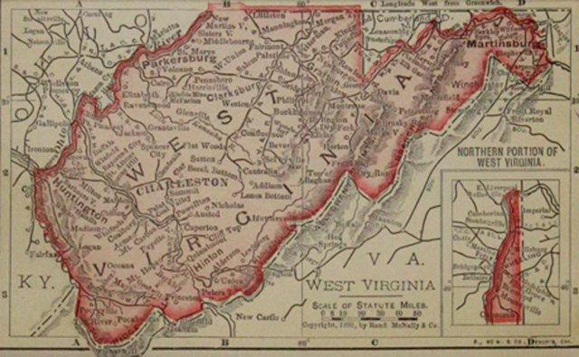 West Virginia Map, 1899