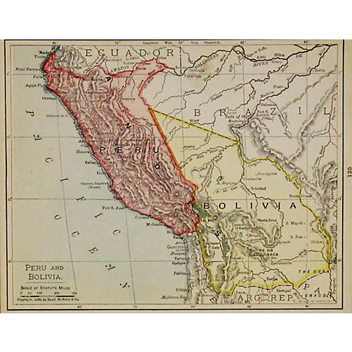 Peru & Bolivia, 1899