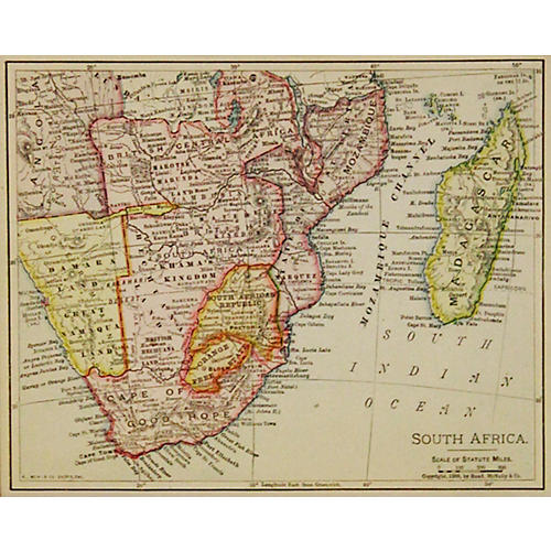 South Africa & Madagascar, 1899