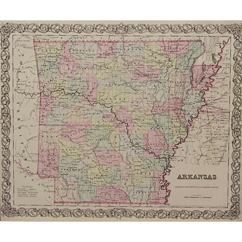 Arkansas & Indian Territory, 1856