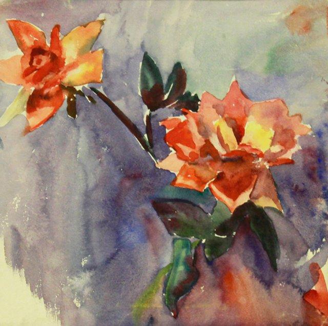 Roses Watercolor, C. 1950