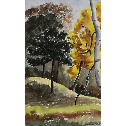 Autumn Landscape Watercolor