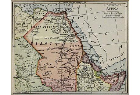 Northeast Africa, Egypt & Tripoli, 1900