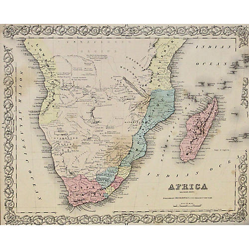 South Africa w/ Madagascar, 1856