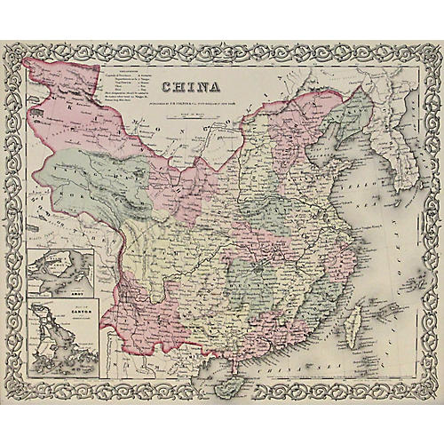 China w/ Canton & Amoy, 1856