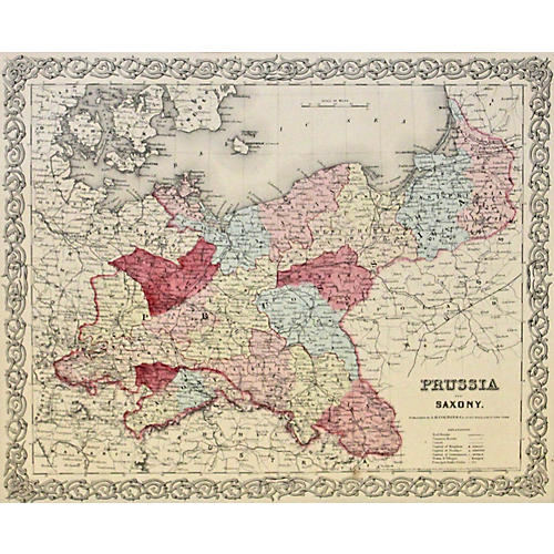 Prussia & Saxony, 1856