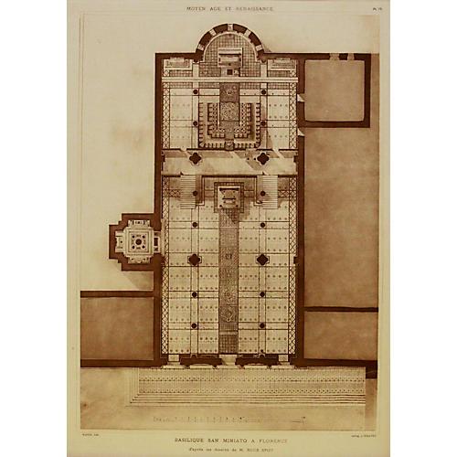 Florentine Basilica Floorplan, 1925
