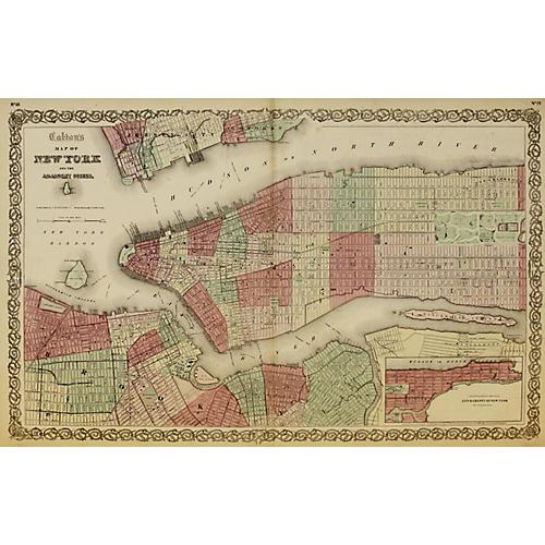 New York City w/ Central Park, 1865