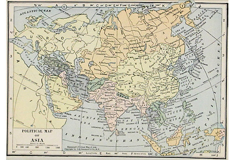 Political Map of Asia, 1931